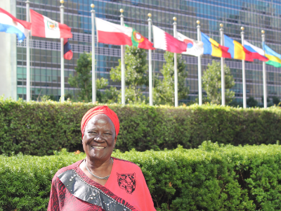 Esther at UN (c) HelpAge International